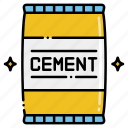 cement, construction, bag, building
