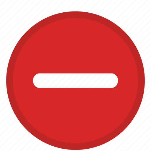 action, delete, delete action, minus remove, remove action icon
