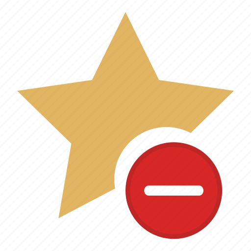 bookmarks, favorites, rating, remove star, star icon