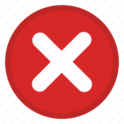 action, cancel, delete, delete action, erase, exit, remove icon