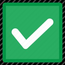 checked, checkmark, done, success, tick icon