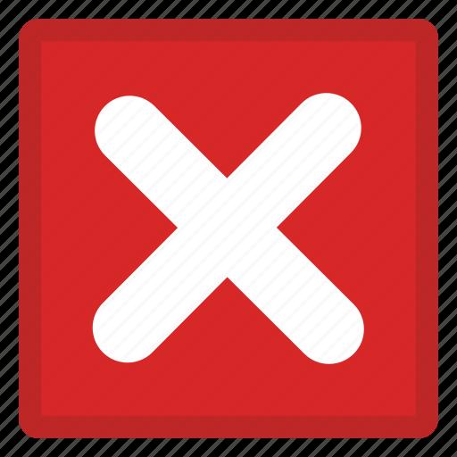 cancel, delete, delete action, forbidden remove, remove action icon