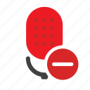 microphone, podcast, radio show, remove microphone, speak, speech, talk icon