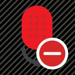 microphone, podcast, radio show, remove microphone, speak, speech, talk icon