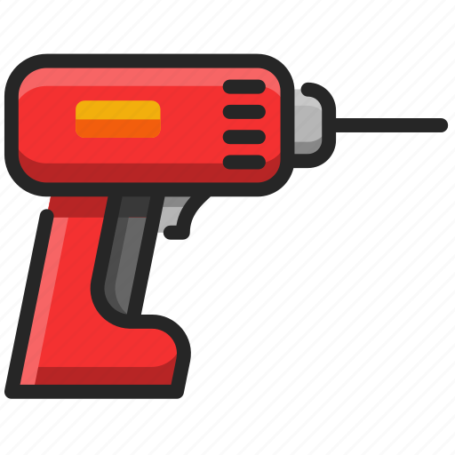 Drill, construction, tools, repair, machine, equipment, work icon - Download on Iconfinder