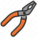 pliers, tools, construction, work, repair, equipment, job