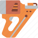 equipment, gun, nail, tool, tools, work icon