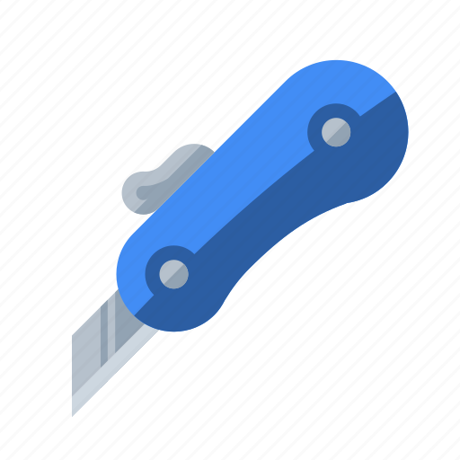 blade, box cutter, knife, razor, tool icon