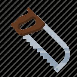 carpenter, hacksaw, mechanic, metal, plumber, saw, tool icon