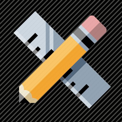 design, drafting, drawing, measure, pencil, ruler, write icon