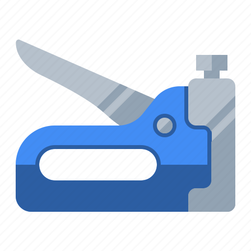 carpentry, construction, crafts, fasteners, home improvement, staple gun, tool icon