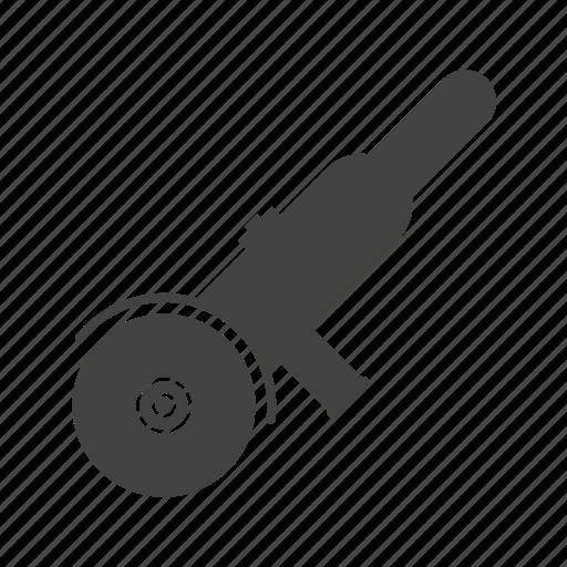 electric, grinder, hand, machine, technology, work icon