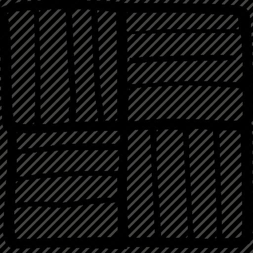 floor, grid pattern, parquet, wood icon
