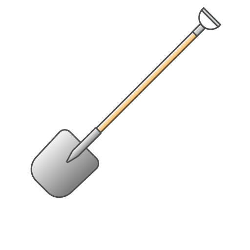 agriculture, dig, gardening, instrument, shovel, spatula, tool icon