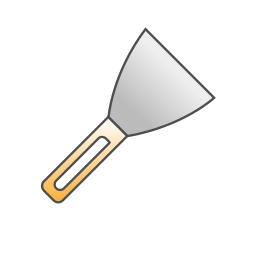build, instrument, repair, shovel, spatula, tool, tools icon