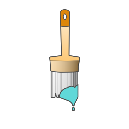 brush, brushes, color, paint, painting, repair, tool icon