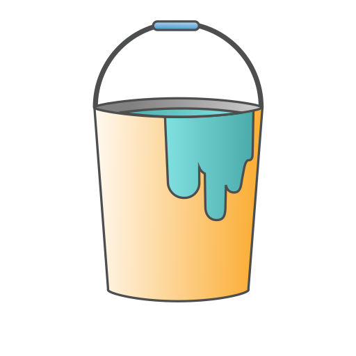 brush, bucket, buckets, color, paint, painting, repair icon