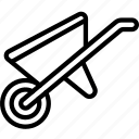 barrow, equipment, tool, tools, wheel, work icon