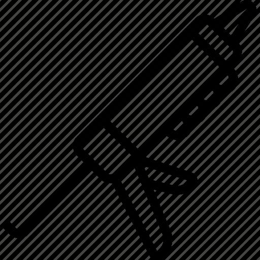 equipment, gun, sealant, tool, tools, work icon