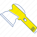angle, construction, electric, equipment, grinder, thin, tool icon