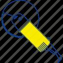 angle, circular, construction, equipment, grinder, thin, tool icon