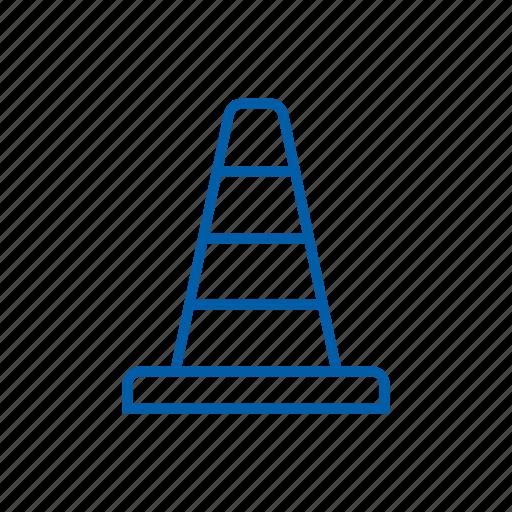 cone, construction, orange cone, pylon, road cone, traffic cone icon