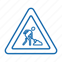 action, construction, direction sign, functioning, in progress, job icon