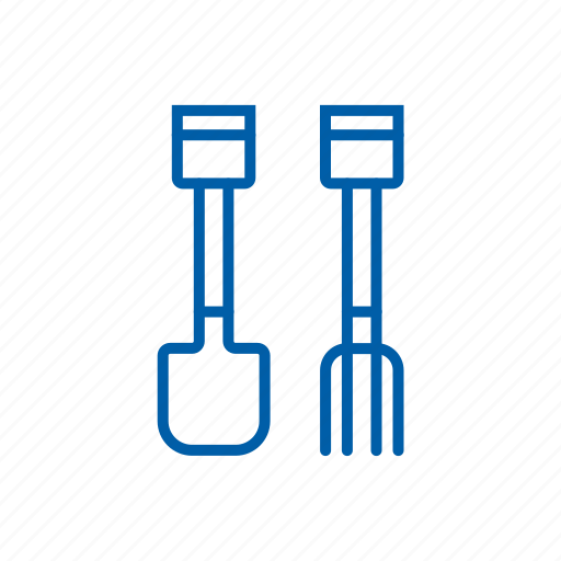 dig, digging, fork, shovel, spade, tools, watchkit icon icon