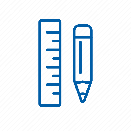 applications, pencil, rule, tools icon icon