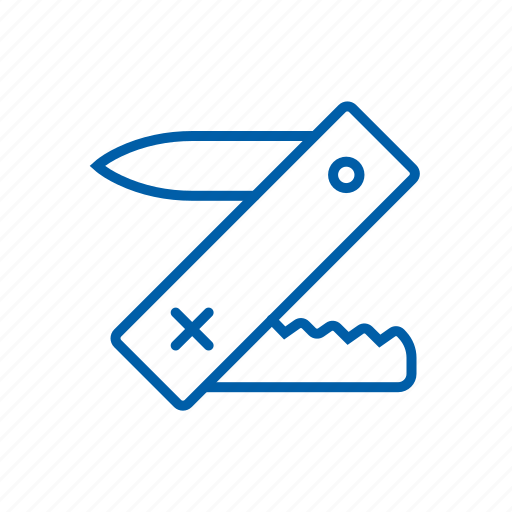 construction, equipment, knife, repair, swiss knife, tool ico icon