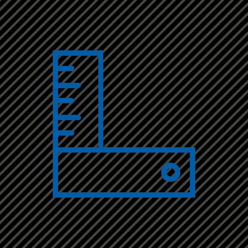 corner, measure, measurement, ruler, tool icon