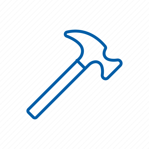 diy, hammer, metal, tool, workshop icon icon