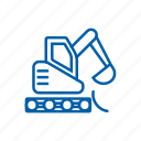 bucket, clamshell, construction, dredger, earthmover, excavator icon