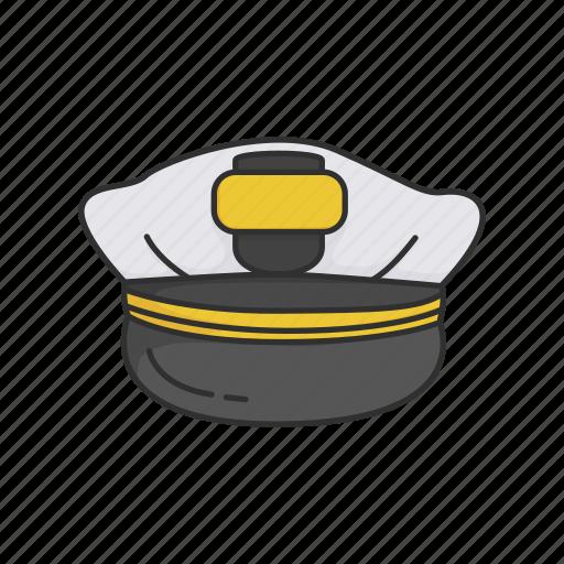 cap, captain hat, hat, navy, navy cap, professional icon