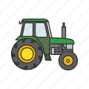 farm, farming tool, heavy equipment, tractor, truck icon