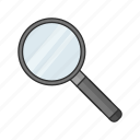hand lens, investagate, magnifier, magnifying glass, zoom icon