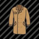clothes, coat, detective, detective coat, garment, profession, suit icon