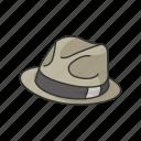 cap, detective, detective hat, fedora, hat, profession