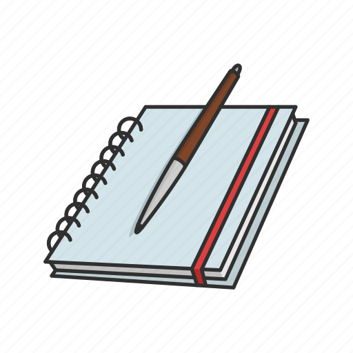 book, journal, lesson plan, notebook, notes, pen, teacher icon