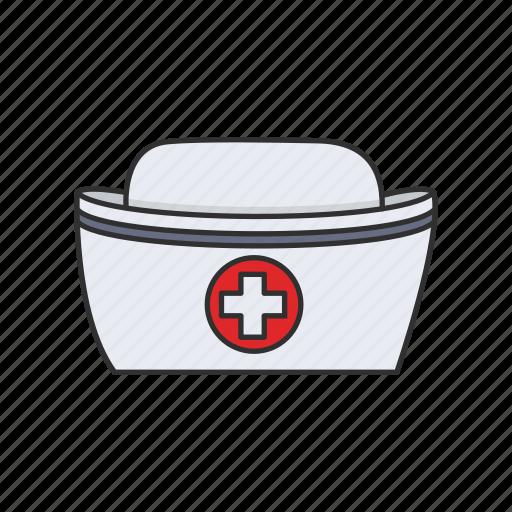 cap, hat, health, nurse, nurse's cap, uniform icon