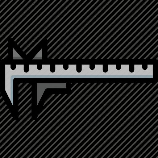 caliper, colour, tools, ultra icon