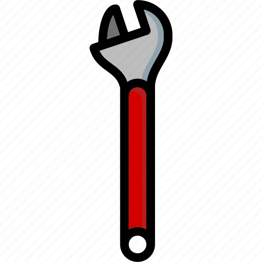 adjustable, colour, tools, ultra, wrench icon