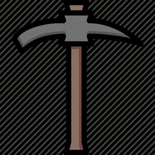 axe, colour, pick, tools, ultra icon