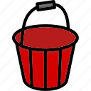 bucket, colour, tools, ultra icon
