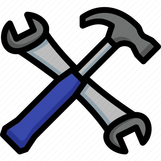 and, colour, hammer, spanner, tools, ultra icon