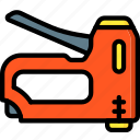 equipment, gun, staple, tool, tools, work icon