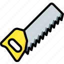 equipment, handsaw, tool, tools, work icon