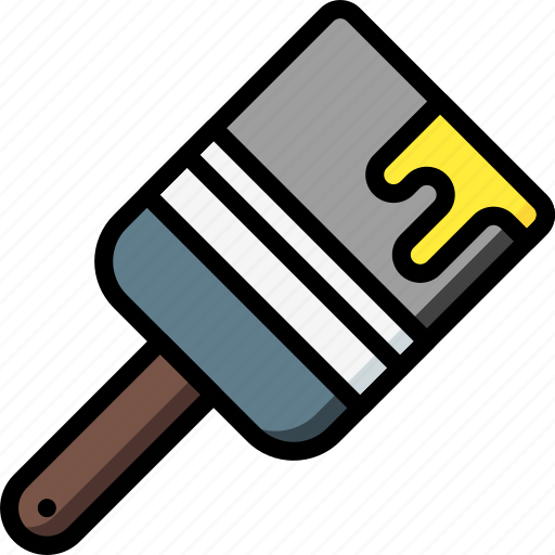 equipment, paintbrush, tool, tools, work icon