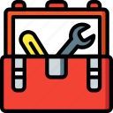 equipment, tool, toolbox, tools, work icon