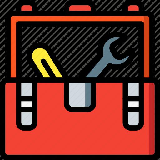 equipment, tool, toolbox, tools, work icon